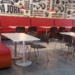Mesas y sillas de restaurante Papa Johns