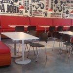 Muebles de pizzería Papa Johns
