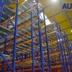 Racks industriales azules